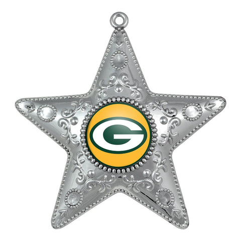 green bay packers,silver,star,ornament
