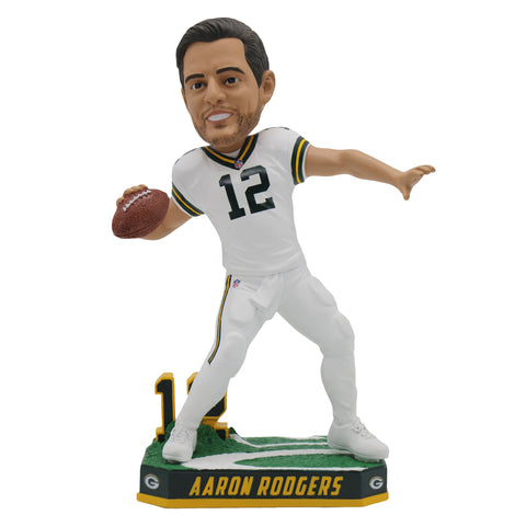 forever collectibles,team,beans,green bay packers,aaron rodgers,color,rush,jersey,bobblehead,bobble,head,nodder,statue,home,decor,decoration