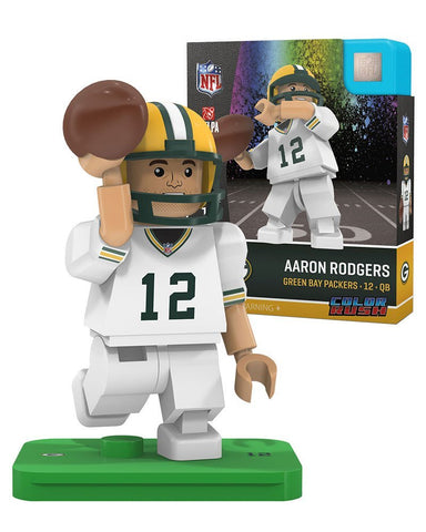 oyo,sports,green bay packers,aaron rodgers,color,rush,lego,oyo,figure,minifigure,building,toys