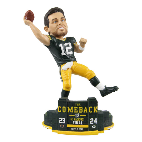 Green Bay Packers Aaron Rodgers The Comeback Bobblehead
