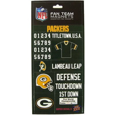 Green Bay Packers Assorted Fan Magnets