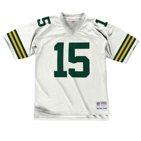 Green Bay Packers Bart Starr #15 1969 Replica Jersey, White