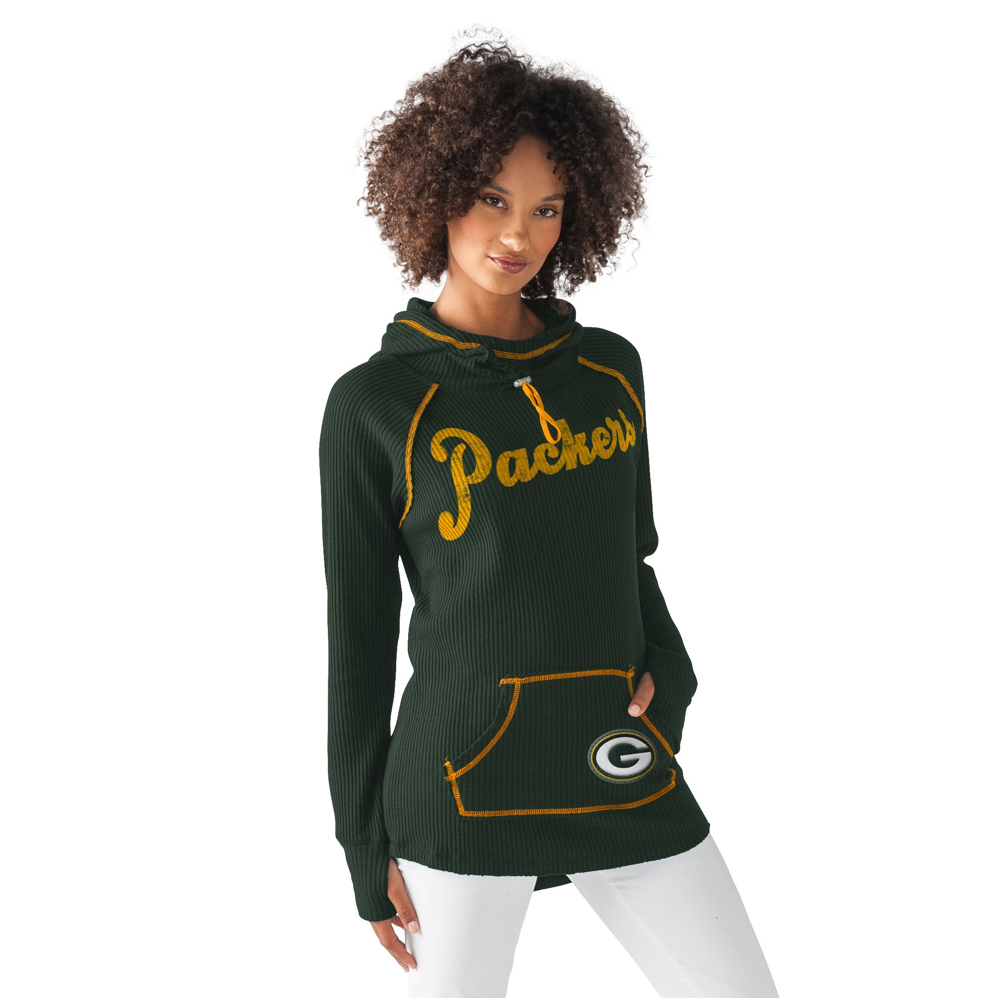 Green Bay Packers Base Camp Adventure Womens Hoodie Medium
