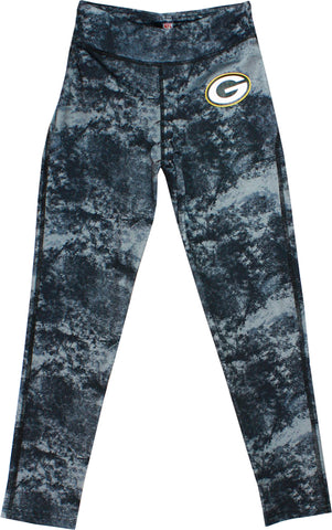 genuine,outerstuff,outer stuff,green bay packers,youth,girls,sublimated leggings,pants,clothing,sweatpants,lounge
