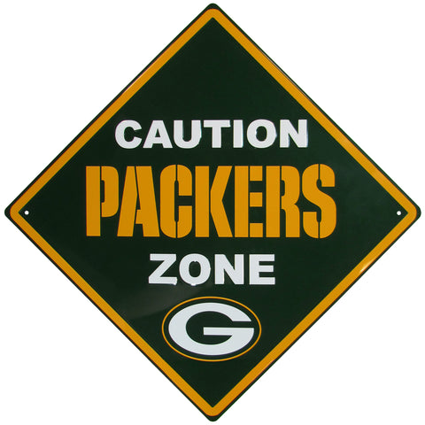siskiyou,green bay packers,caution,packers,zone,wall,plaque,sign,signage,home,decor,decoration