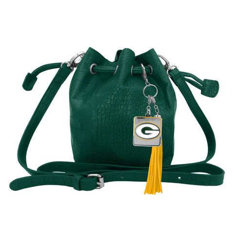 littlearth,little,earth,green bay packers,bucket,bag,knapsack,backpack,back,pack,luggage,travel,clothing accessories,purse,handbag