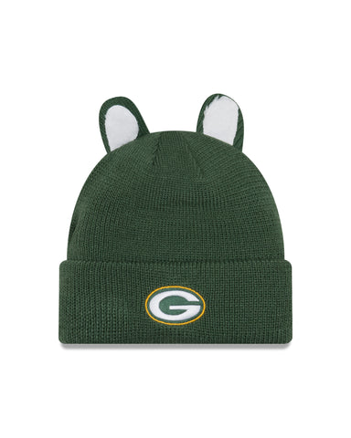 new era,green bay packers,cozy,cutie,skullie,beanie,winter,knit hat,clothing accessories