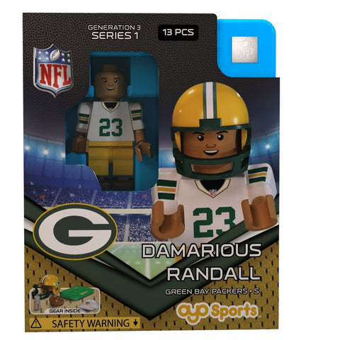 Green Bay Packers Damarious Randall #23 Away Edition OYO Minifigure