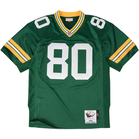 mitchell,&,ness,green bay packers,donald,driver,2000,replica,authentic,jersey,clothing,collectible