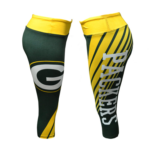 collect,concept,sports,green bay packers,capris,pants,bottoms,clothing accessories,leggings