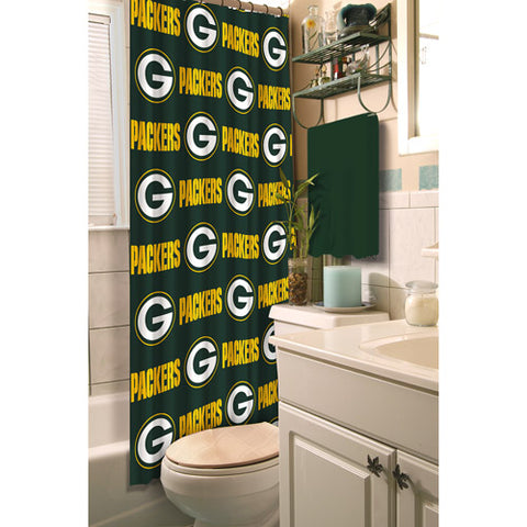 green bay packers,shower,curtain