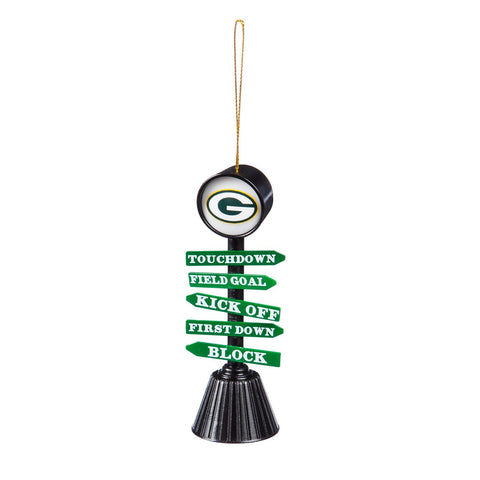 evergreen,team,sports,america,green bay packers,fan,crossing,hanging,ornament,holiday,christmas,xmas,seasonal,home,decor,decoration