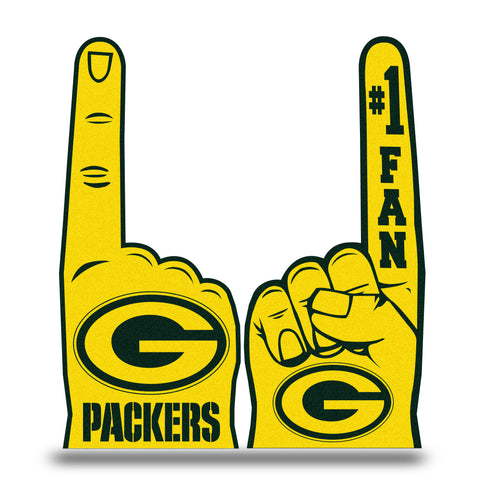rico,inc,green bay packers,#1,fan,foam,finger,noisemaker,noise,maker,game day,tailgate,decoration,décor