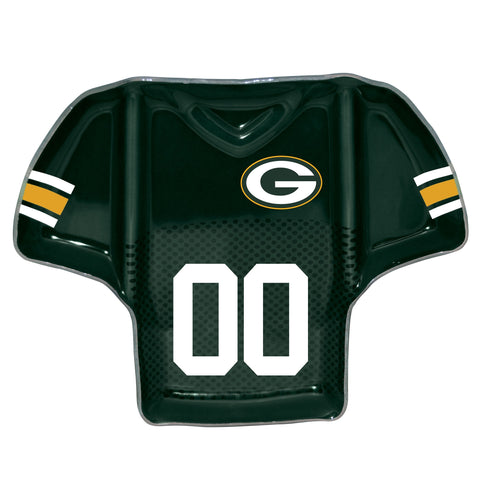 Green Bay Packers Glass Jersey Chip and Dip Tray