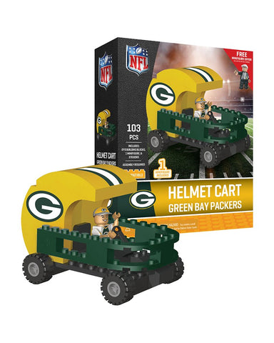 Green Bay Packers: Helmet Cart Building Set
