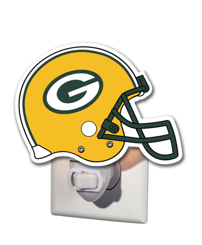 evergreen,enterprise,team,sports,america,green bay packers,football,helmet,disc,children,child,kid,nightlight,night,light,lighting,home,décor,decoration