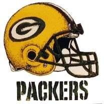 Green Bay Packers Helmet Sports Transfers Temporary Tattoos (Set of 3)