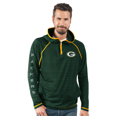 g-iii,green bay packers,interval,quarter,zip,hoody,hoodie,sweatshirt,sweat,shirt,top,outerwear,clothing accessories