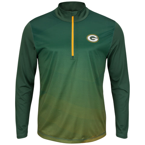 Green Bay Packers Intimidating Men's Dark Green 1/2 Zip Pullover