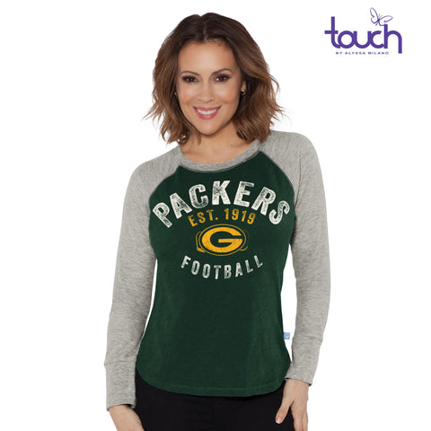 g-iii,green bay packers,lay-up,long sleeve tee,t-shirt,tshirt,shirt,tops,clothing accessories