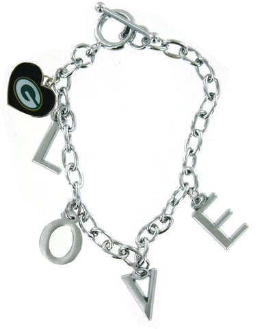green bay packers,charm,bracelet