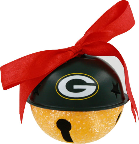 green bay packers,glitter,bell,ornament