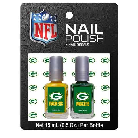 worthy,promotional,products,green bay packers,nail,polish,decals,accessories,game day,tailgate,tail gate,national football league