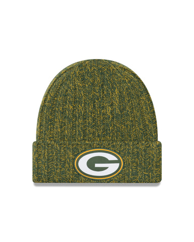new era,green bay packers,2018,on field,TD,touchdown,cold weather,beanie,skullie,hat,headwear,sport,knit cap,clothing accessories