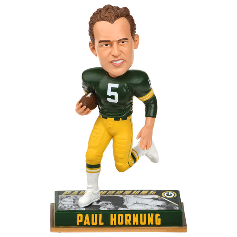 forever collectibles,team,beans,green bay packers,paul,hornung,5,retired,bobblehead,bobble,head,toy,action,figure,statue,home,décor,decoration