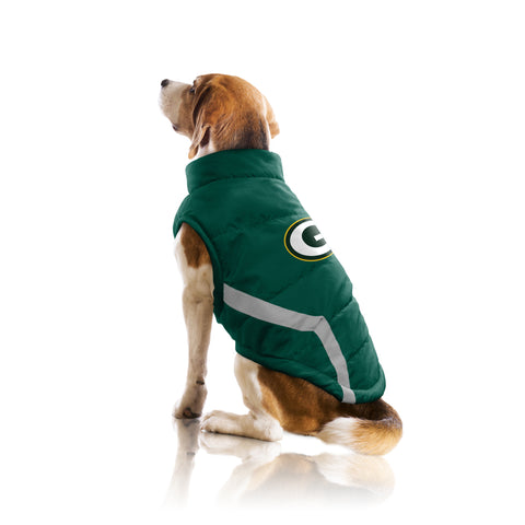 little,earth,littlearth,green bay packers,pet,puffer,vest,jacket,coat,clothing accessories