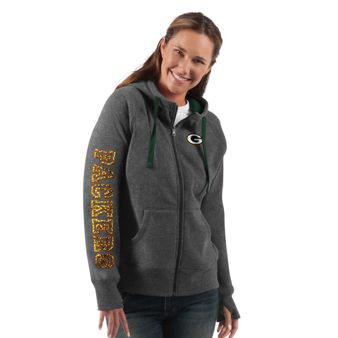 g-iii,green bay packers,playoff,full,zip,jacket,outerwear,coat,winter gear,clothing accessories,hoodie,hoody,sweatshirt