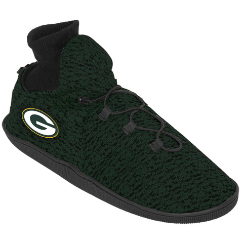 forever collectibles,foco,green bay packers,poly,knit,sneaker,slippers,footwear,shoes,clothing accessories