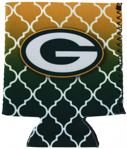 Green Bay Packers Quatrefoil Can Insulator