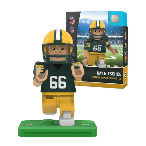 oyo,sports,green bay packers,ray nitschke,legend,retired,action,toy,figure,mini-figure,minifigure,g4,generation,4,limited,edition