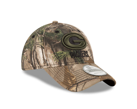 new era,green bay packers,920,9twenty,real tree,realtree,camouflage,camo,baseball cap,hat,stretch fit,headwear,clothing accessories