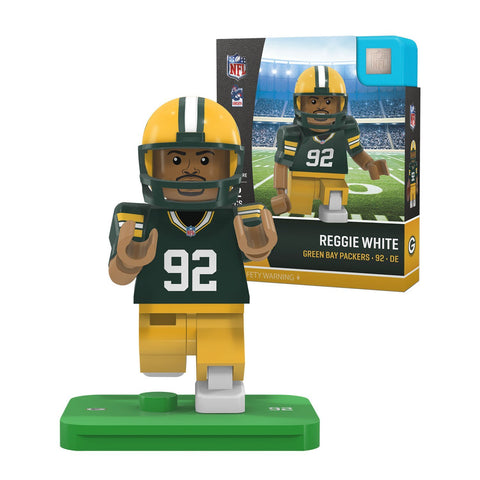 oyo,sports,green bay packers,reggie,white,legend,retired,action,toy,figure,mini-figure,minifigure,g4,generation,4,limited,edition