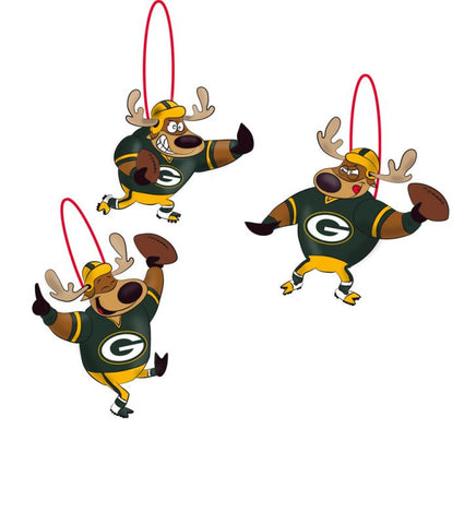 green bay packers,reindeer,players,ornament
