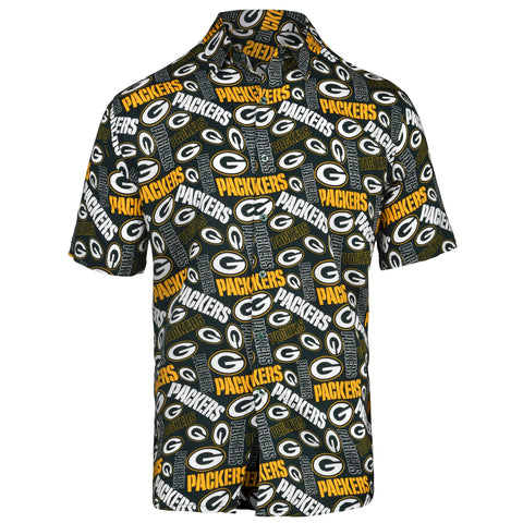 forever collectibles,team,beans,green bay packers,button-up,button,polo,shirt,dress,clothing,tops,accessories