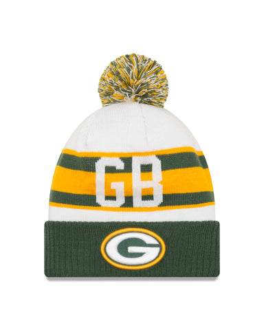 Green Bay Packers Retro Cuff Pom Knit Hat