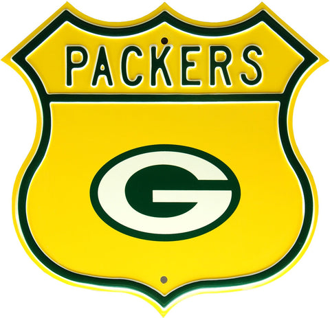green bay packers,route,sign