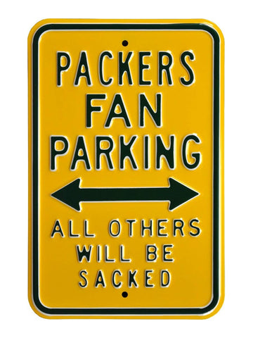 "Green Bay Packers Sacked 12"" x 18"" Parking Sign"