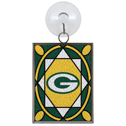 green bay packers,stained,glass,ornament