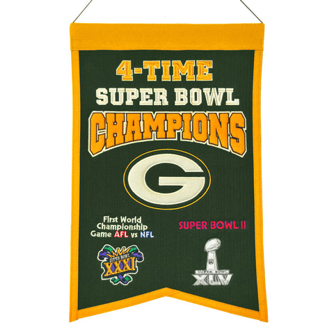 green bay packers,4x,super,bowl,banner