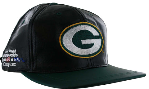 Green Bay Packers Super Bowl Champs Leather Hat