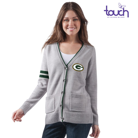 Green Bay Packers TOUCH Varsity Girl Cardigan Sweater