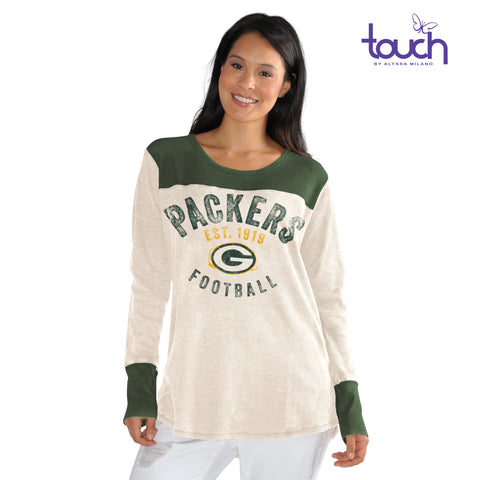 Green Bay Packers Touch Women's Curve Fan Club Thermal Shirt