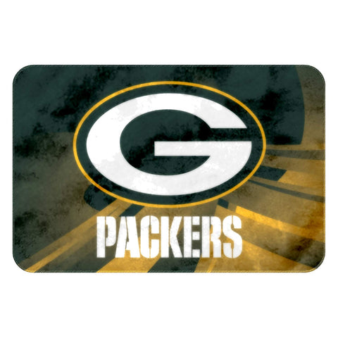 "Green Bay Packers Vortex Raschel Rug, 20"" x 30"""