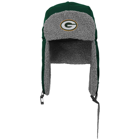genuine,outerstuff,outer stuff,green bay packers,winter,trooper,hat,boys,cap,winter gear,clothing accessories