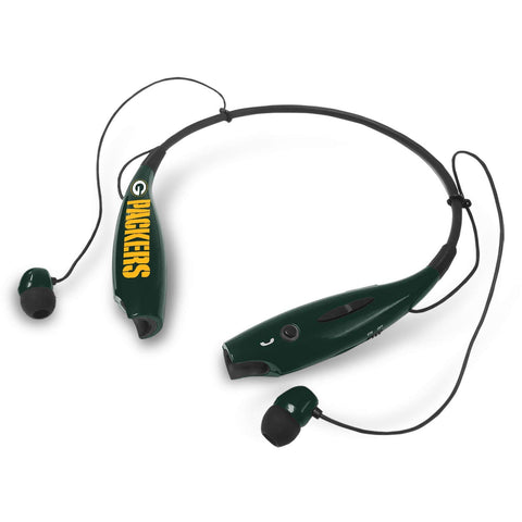 mizco,green bay packers,wireless,stereo,headset,headphones,earbuds,earphones,electronics