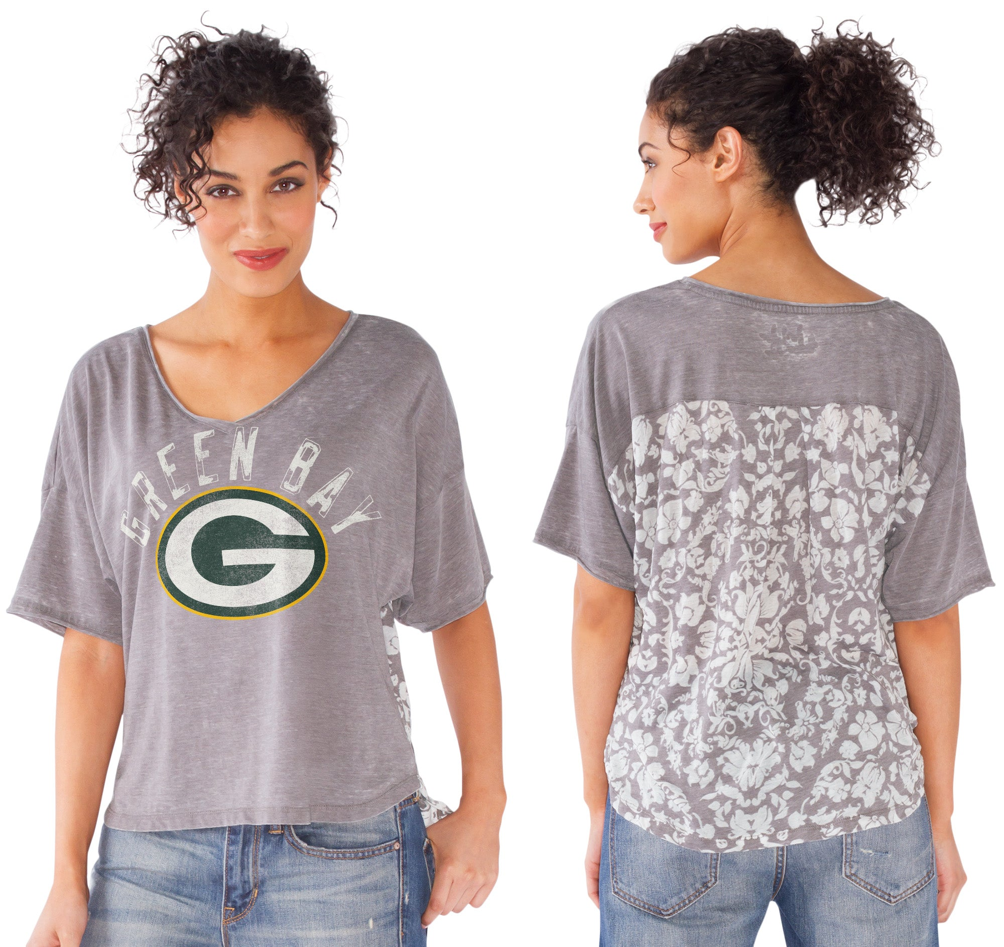 Green Bay Packers Distress W// Football Gloves Image Men/'s Black T-Shirt